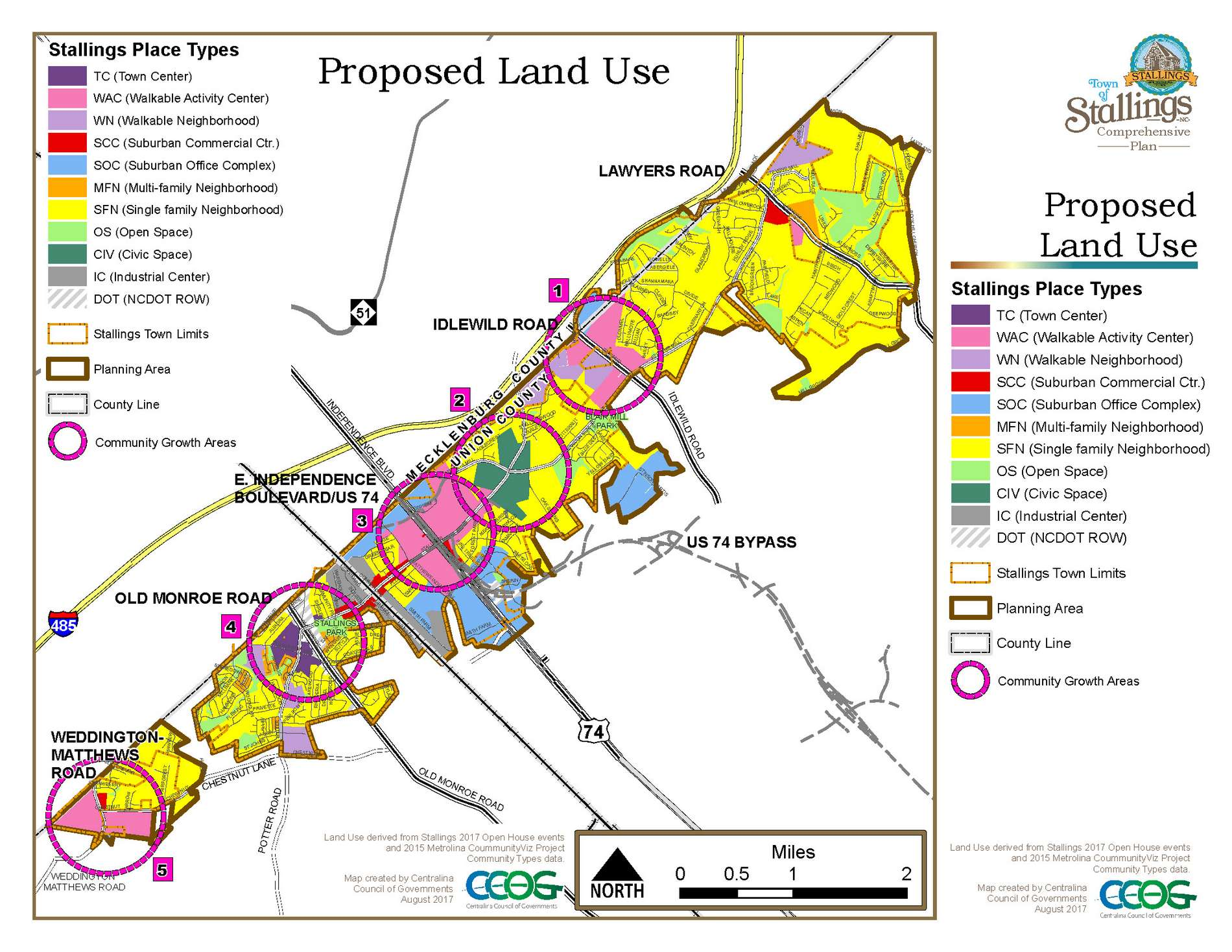 Future Land Use Map - Stallings Plans
